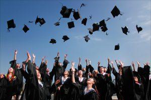 International university students graduation