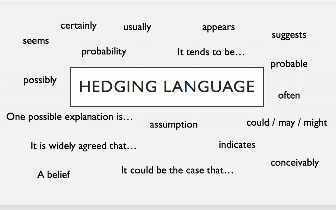 Academic writing style: Hedging