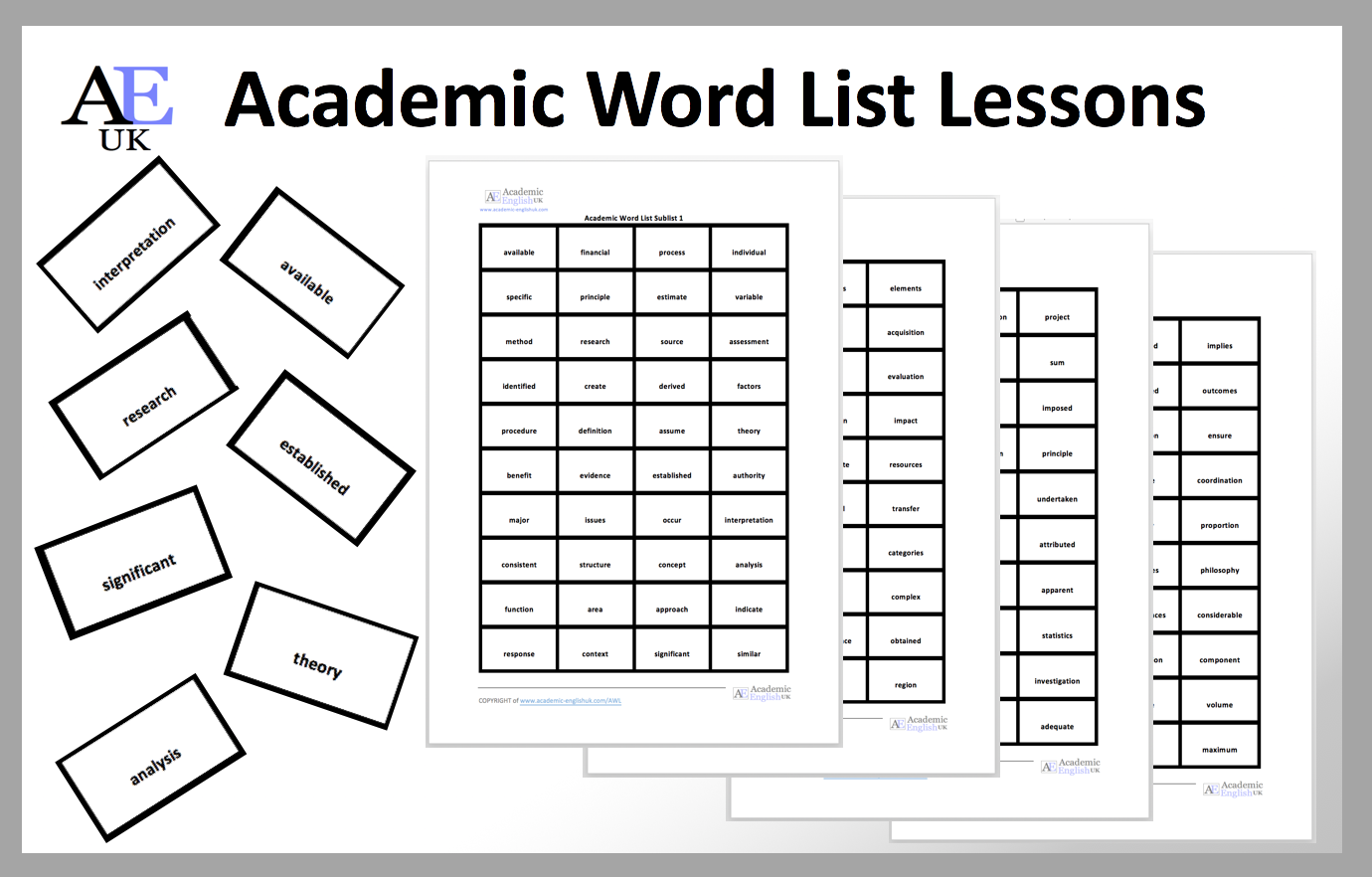AWL Lesson words