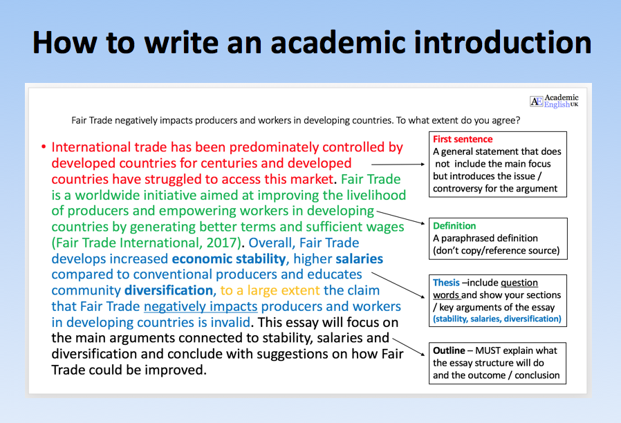 Dissertation writing introduction