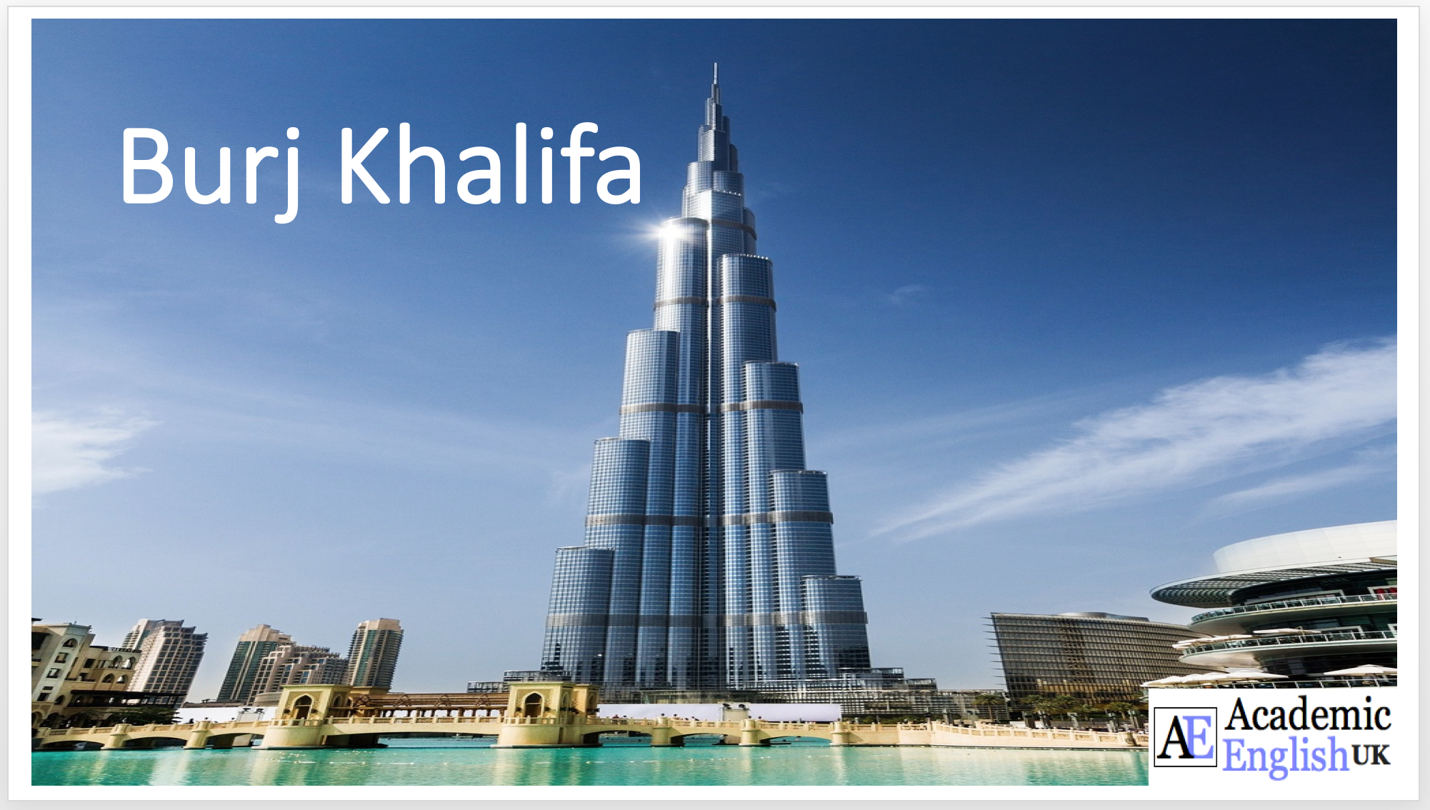 burj khalifa essay in english