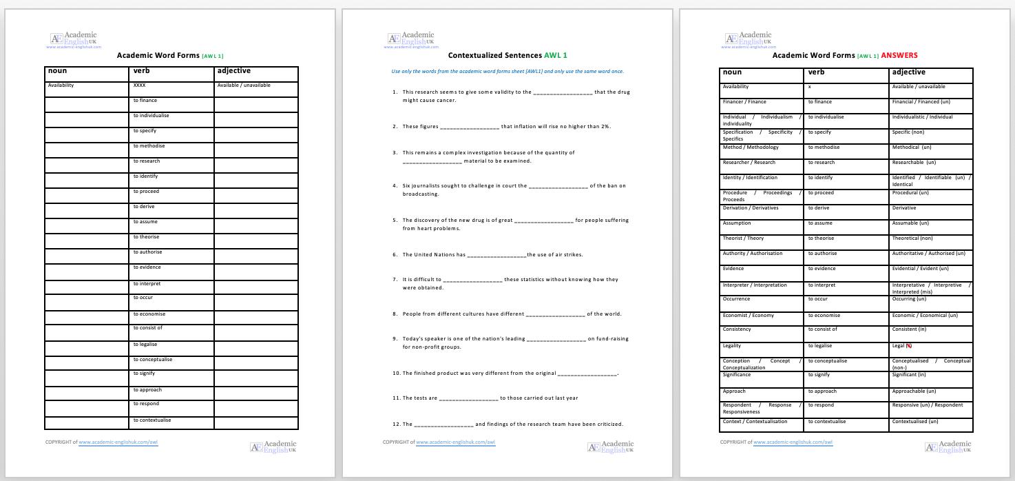 Academic Word Formation - Academic English UK