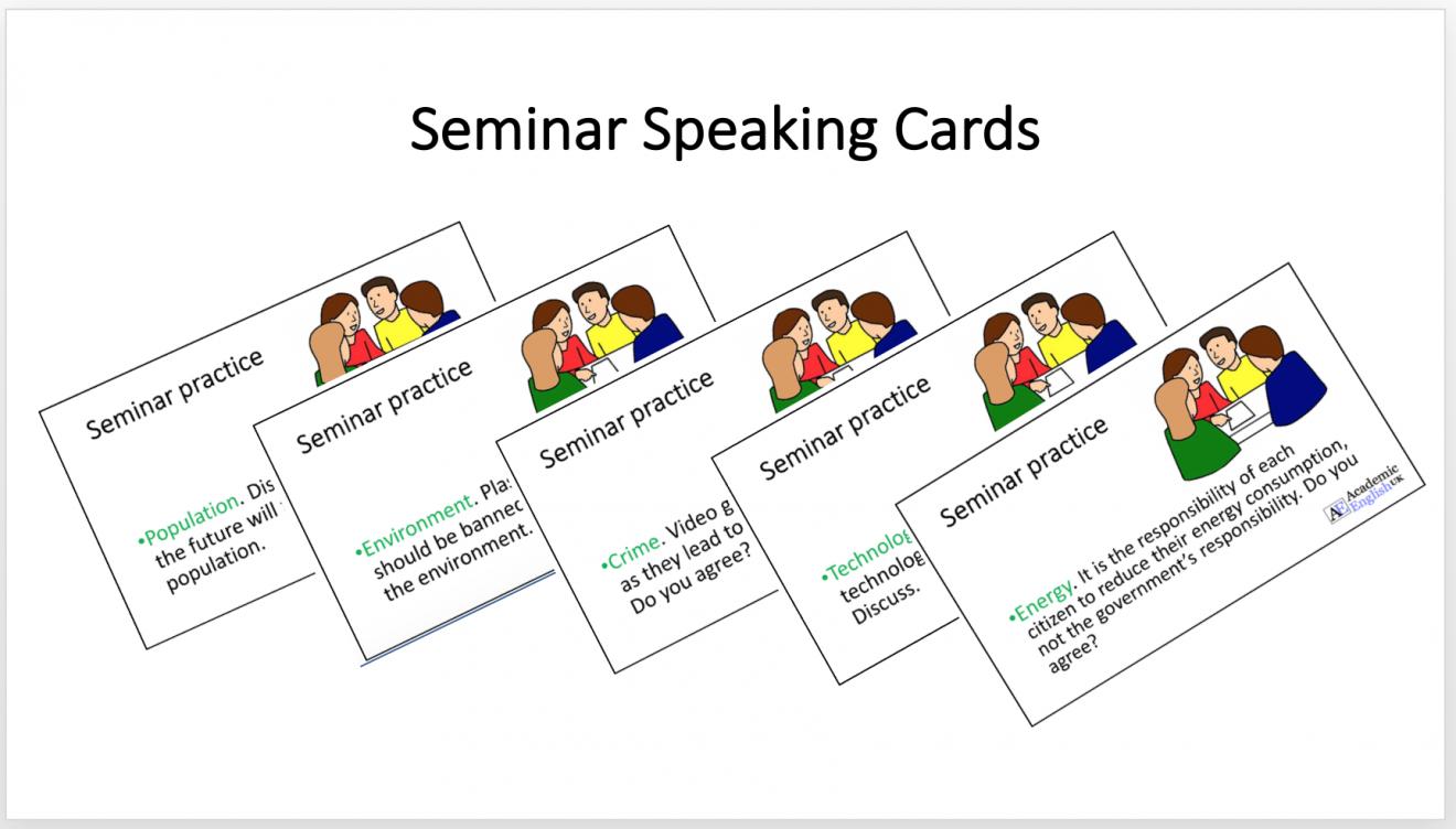 seminar speaking cards