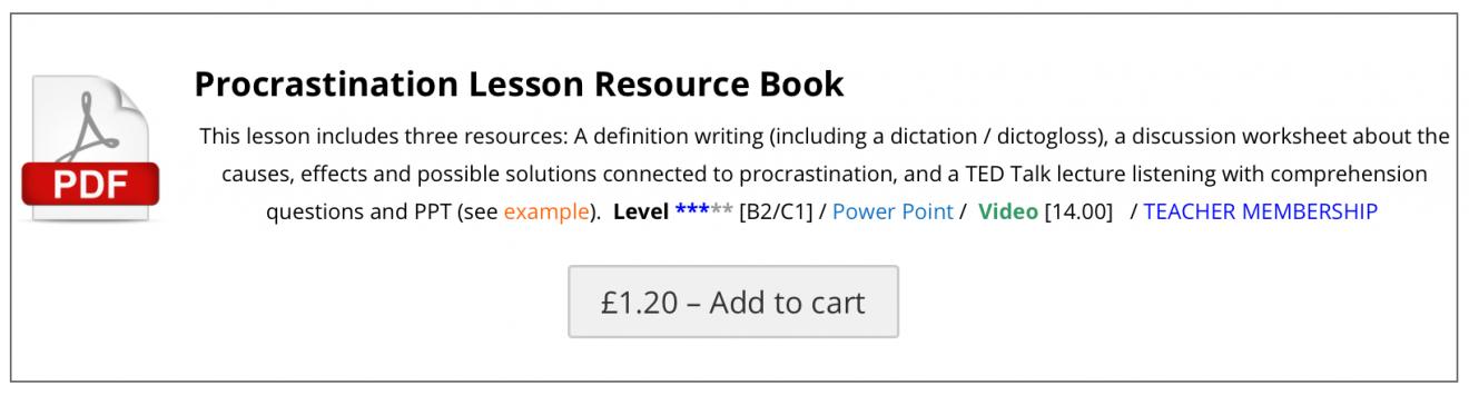 Procrastination Resource book