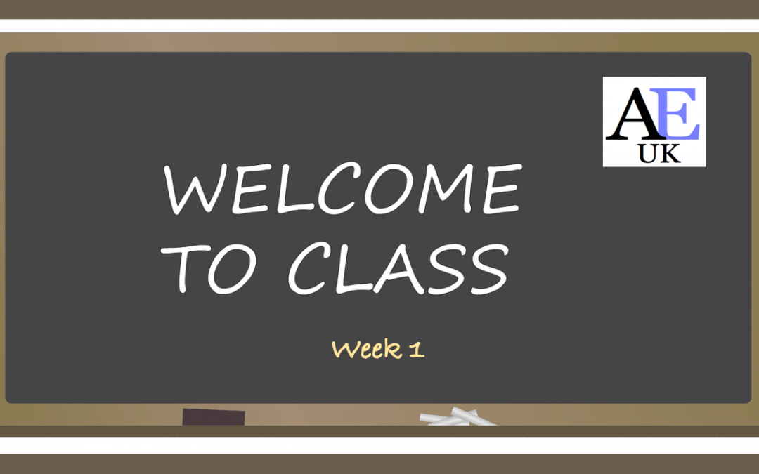 week 1 - welcome to class