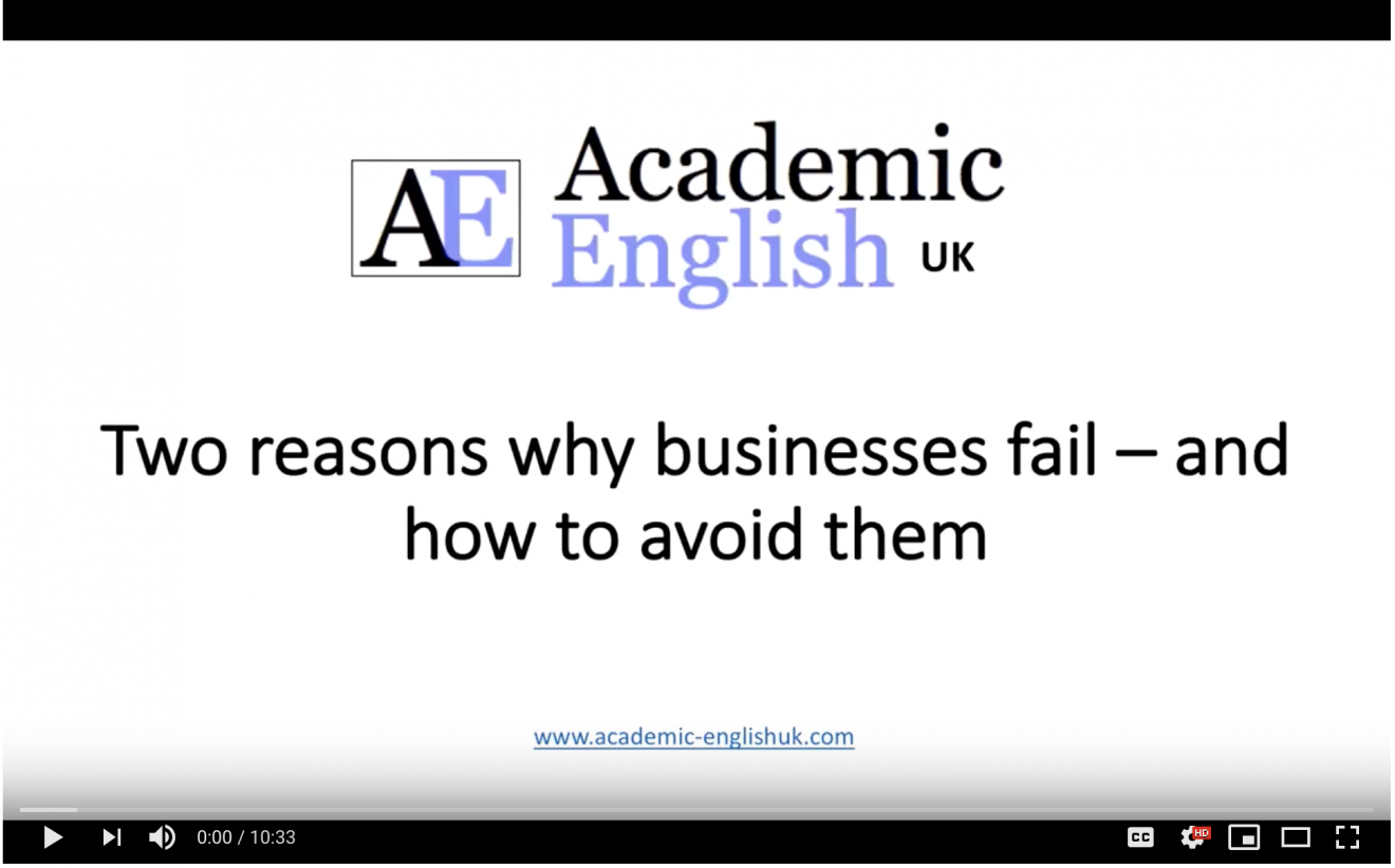 Two reason why business fail video AEUK