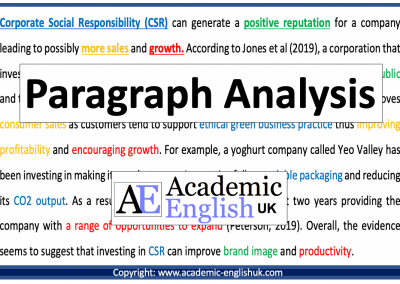 Paragraph Analysis