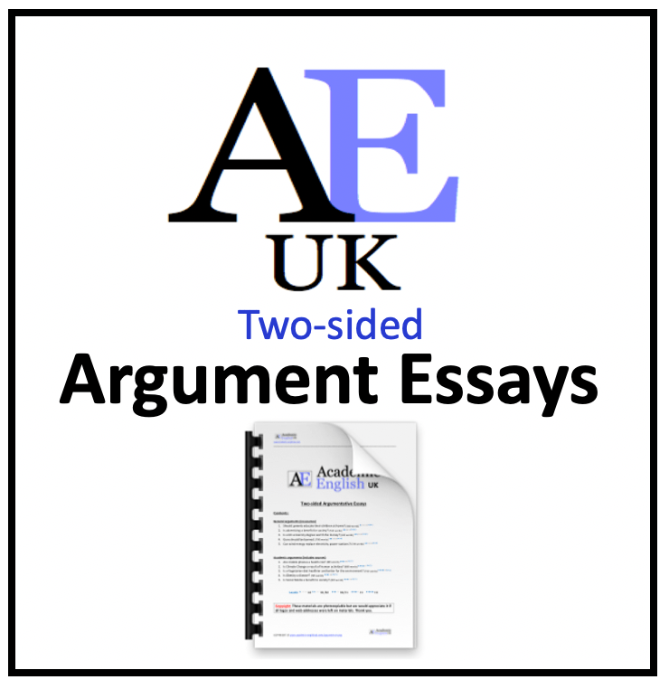 two-sided argument essays by AEUK