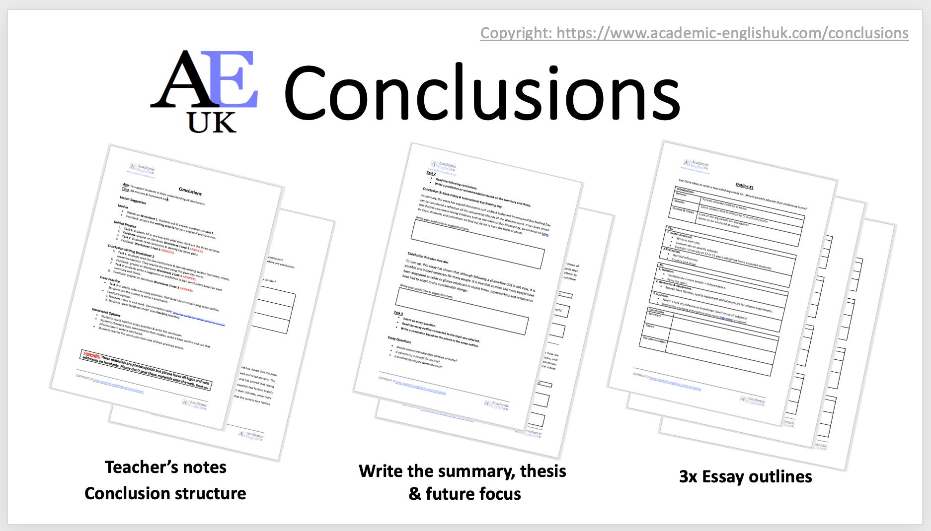 Conclusion Lesson AEUK