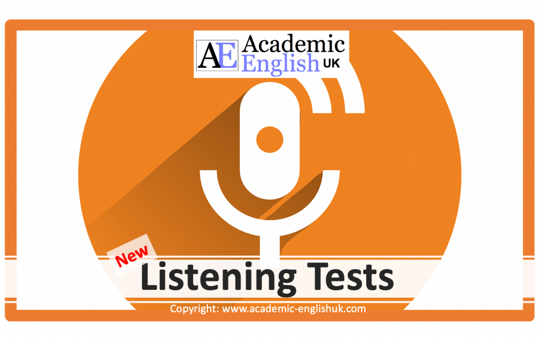 New academic lecture listening tests