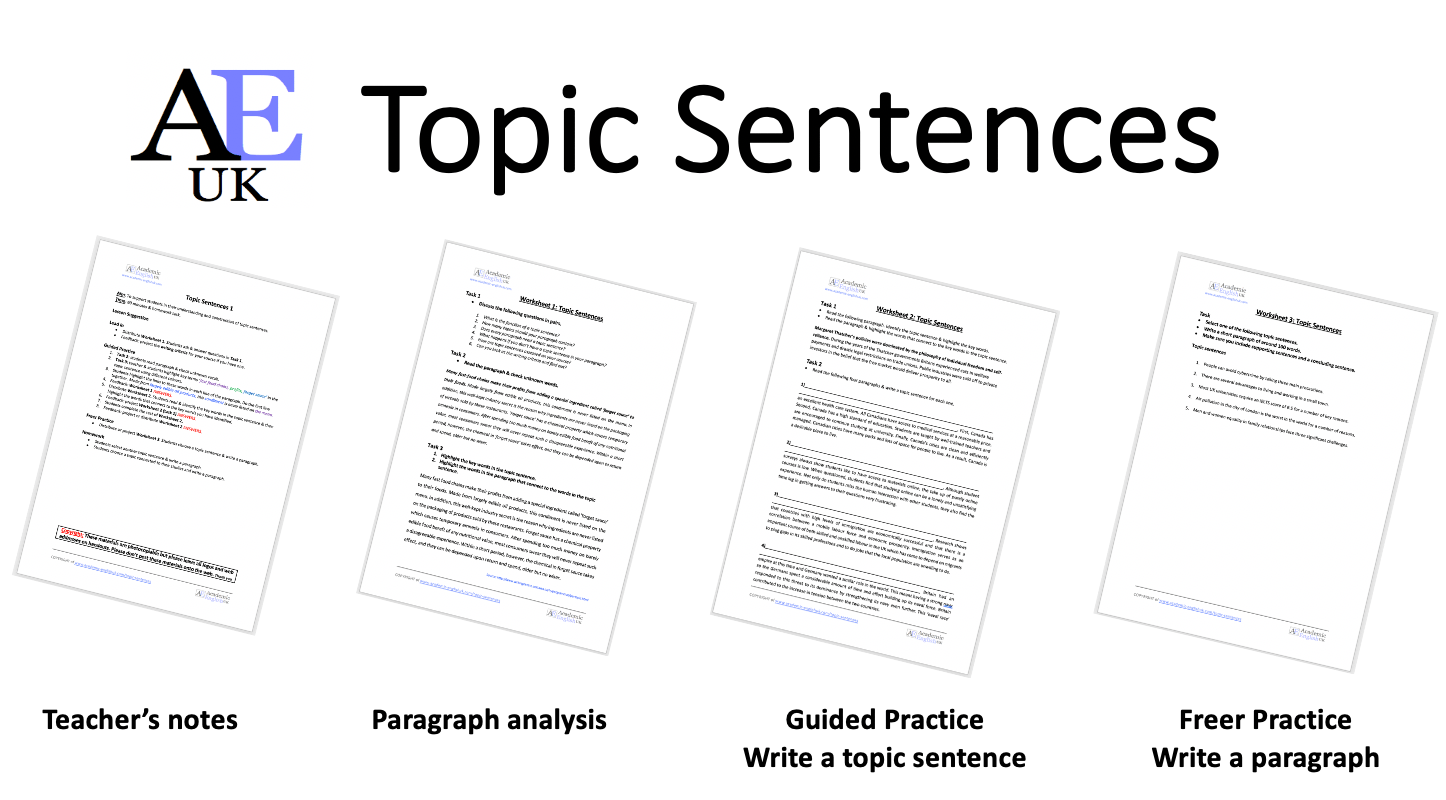 Topic Sentences AEUK