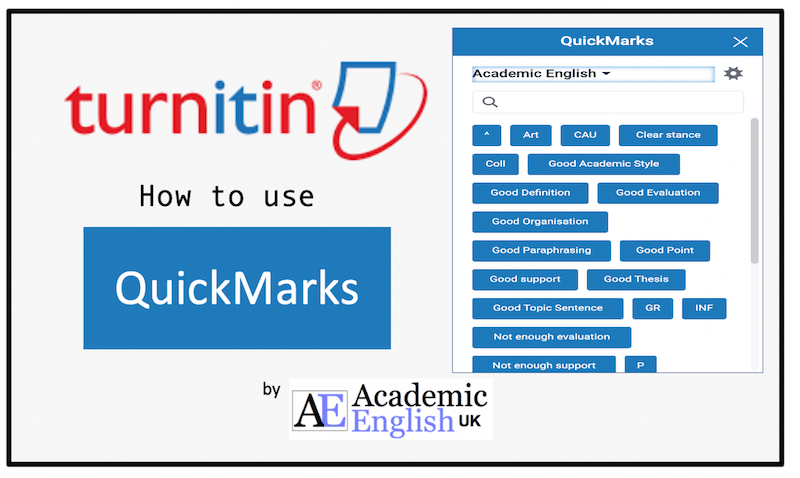 Turnitin Quickmarks
