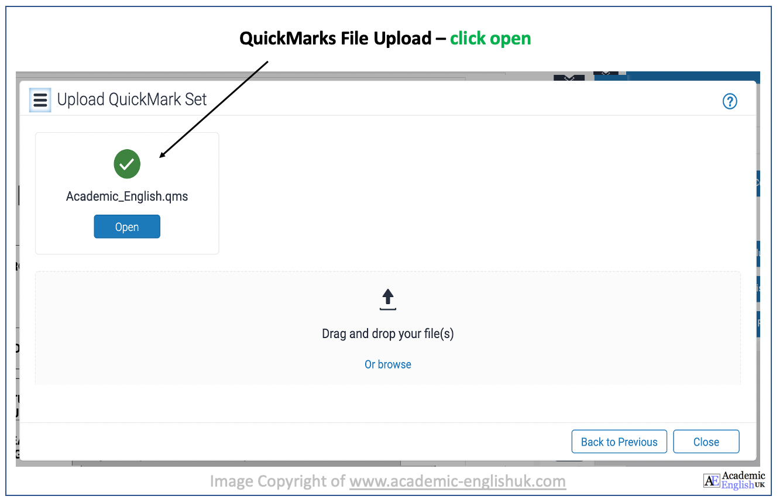 Upload academic English QuickMark Set