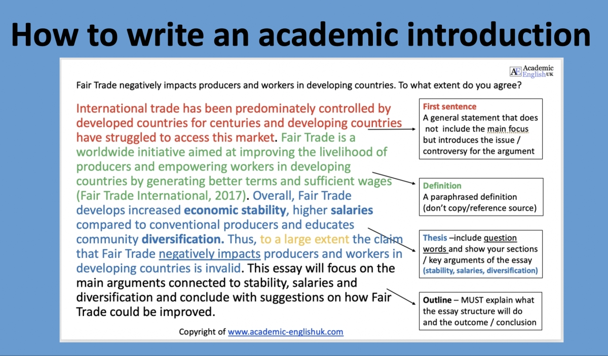 How To Write An Academic Introduction    Academic English Uk