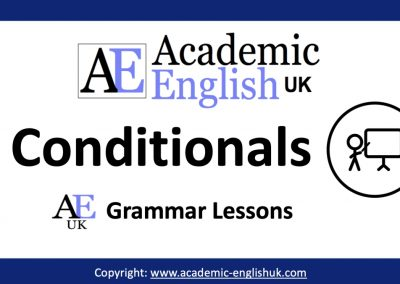 Academic Conditionals