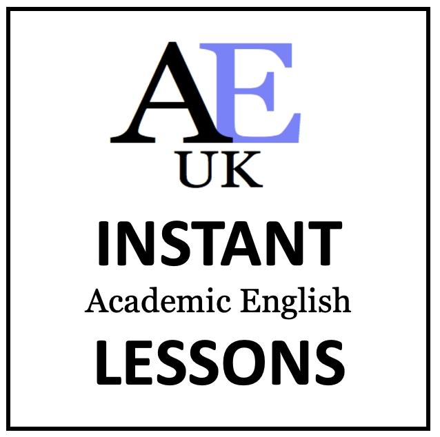 Instant academic English Lessons