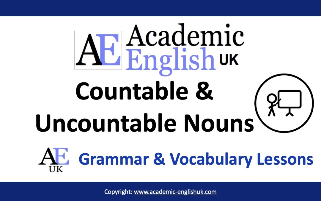 academic countable and uncountable nouns
