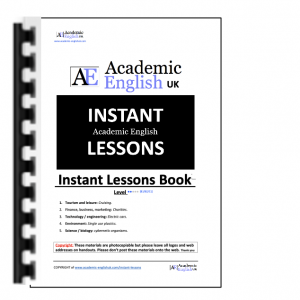 instant lessons by academic English UK
