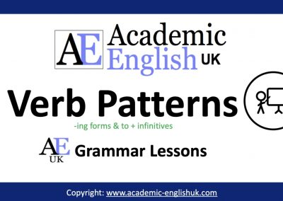 Verb Patterns Blog