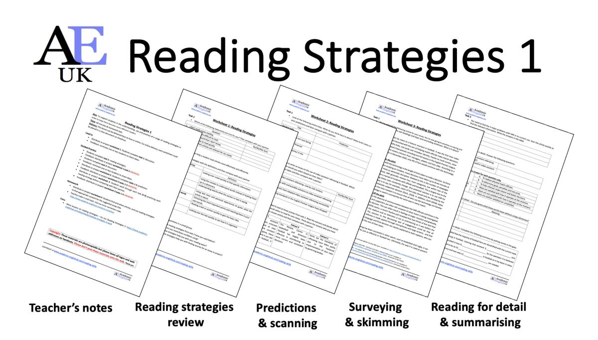 Reading strategies 1 academic English UK
