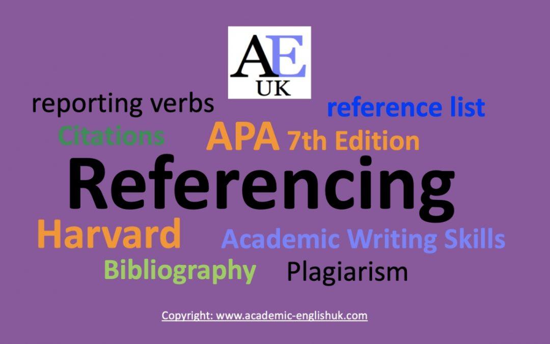 referencing skills by academic English uk